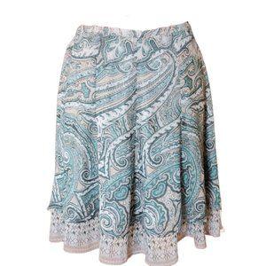 WHBL Flirty Turquoise Ruffle Skirt 8P